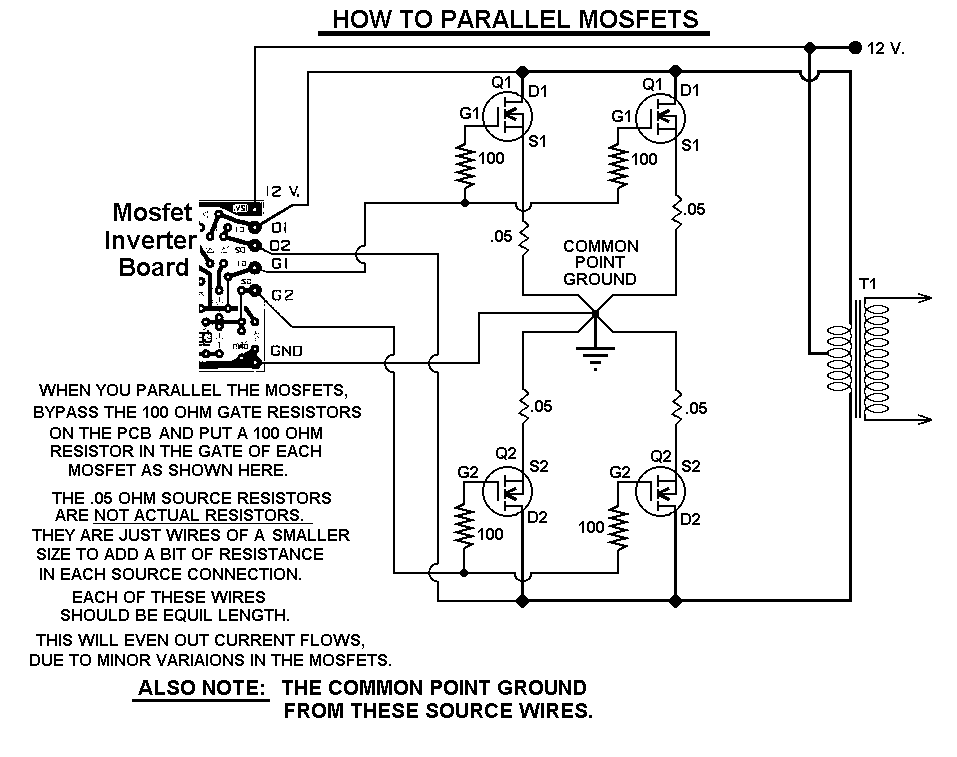1000 Watt Power Inverter Schematic Diagram For Reference