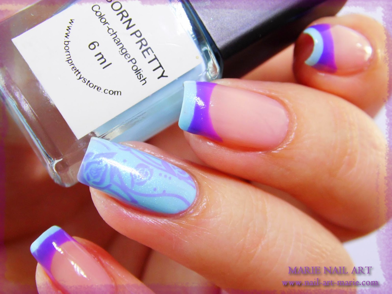 Nail Art Double French Thermique6
