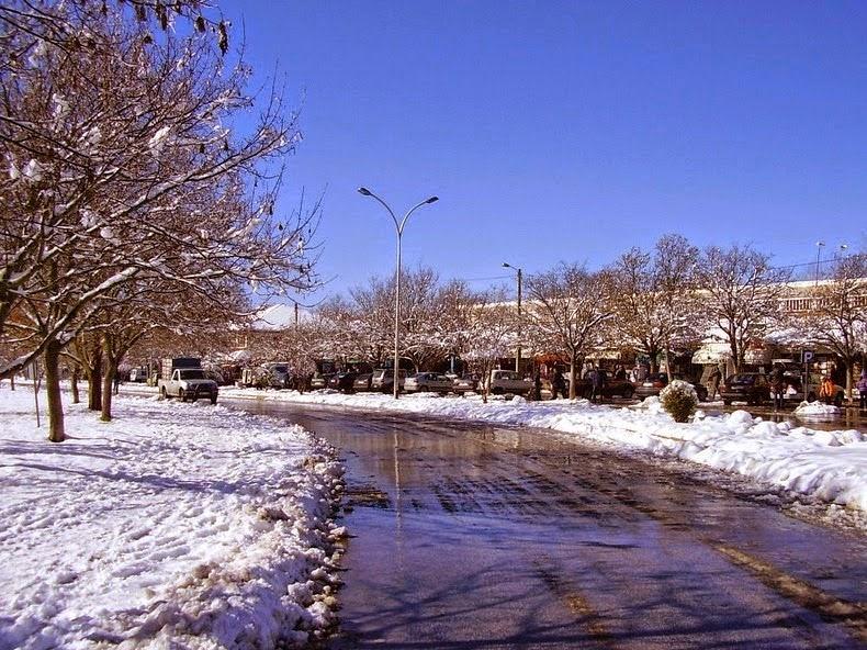 شوارع افران في فصل الشتاء