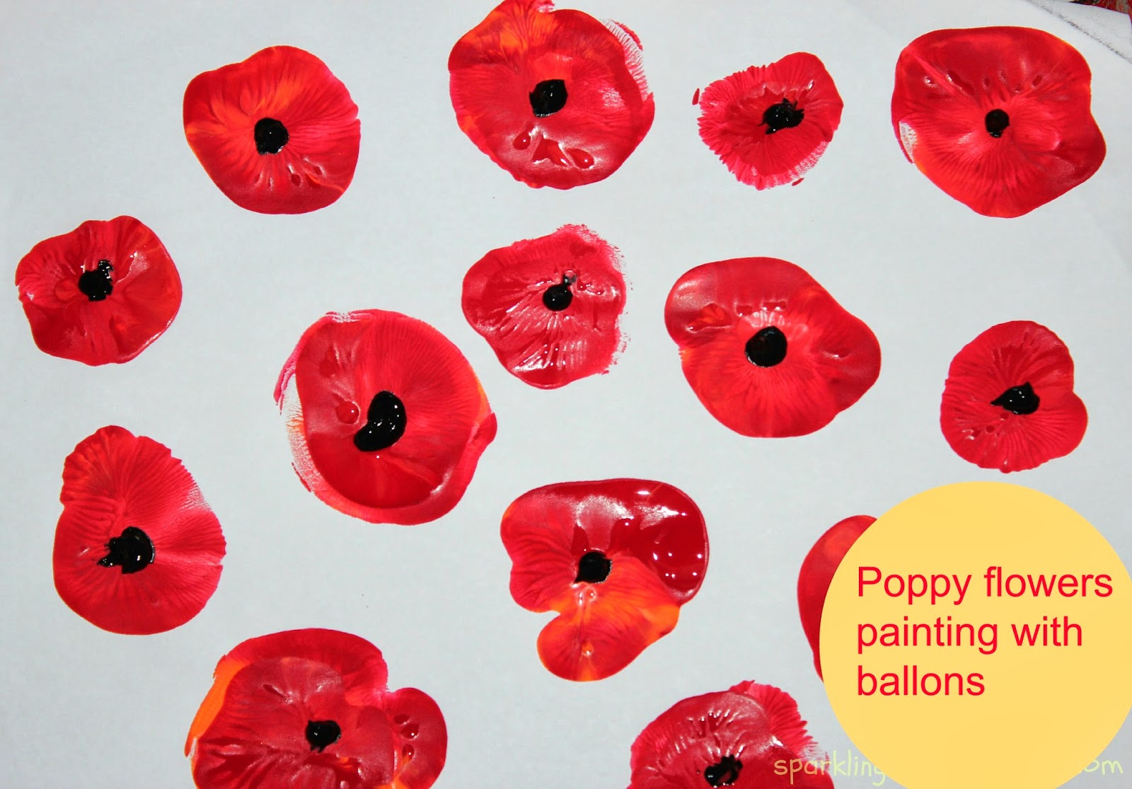 Poppy flowers painting with kids sparklingbuds - How to paint poppy flowers ...