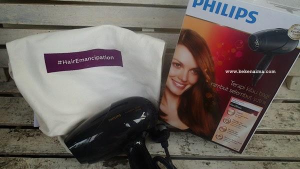 Philips kerashine hair emancipation, hijab, hair dryer
