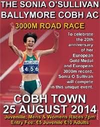 Mon 25th Aug...New 3k race in Cobh