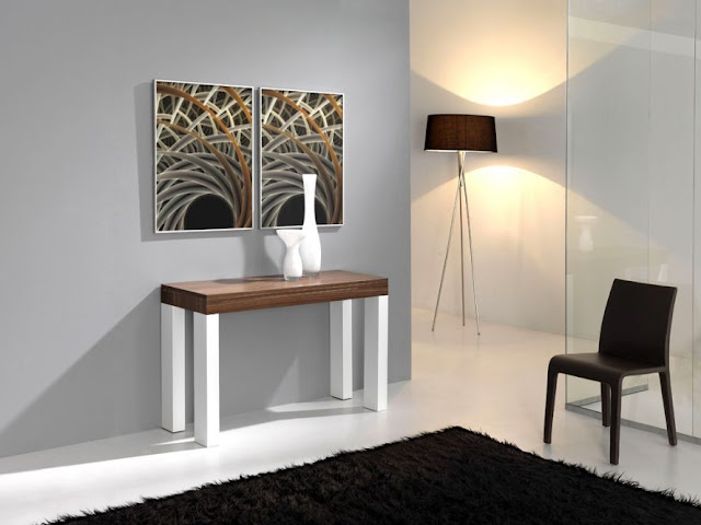 Ideas para amueblar un peque o apartamento mobles - Mesas comedor plegables tipo consola ...