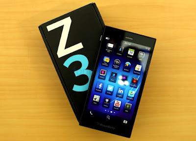Harga dan Spesifikasi HP Blackberry Z3 Terbaru