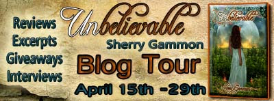 Unbelievable Blog Tour (author interview+excerpt+giveaway)