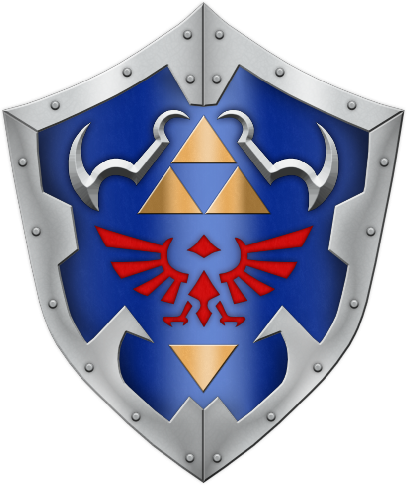 3d modeling links shield from zelda
