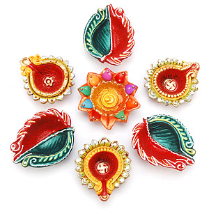 Decorative Diwali Diyas Pictures Photos
