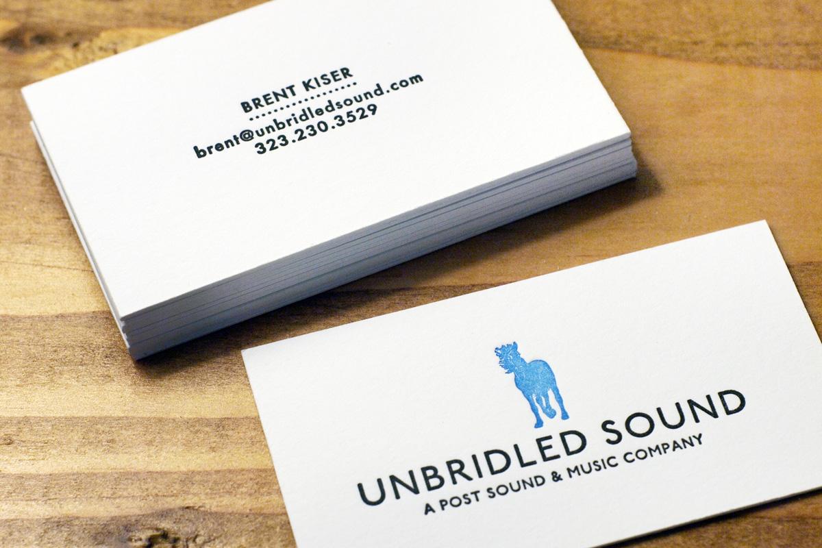 The Bartlett Press: Unbridled Sound Business Cards – Jamie ...