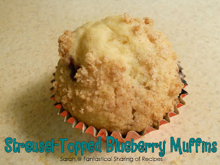 Streusel-Topped Blueberry Muffins that are so light and fluffy, you'll be kicking yourself for not trying them sooner! #breakfast #muffins #blueberry