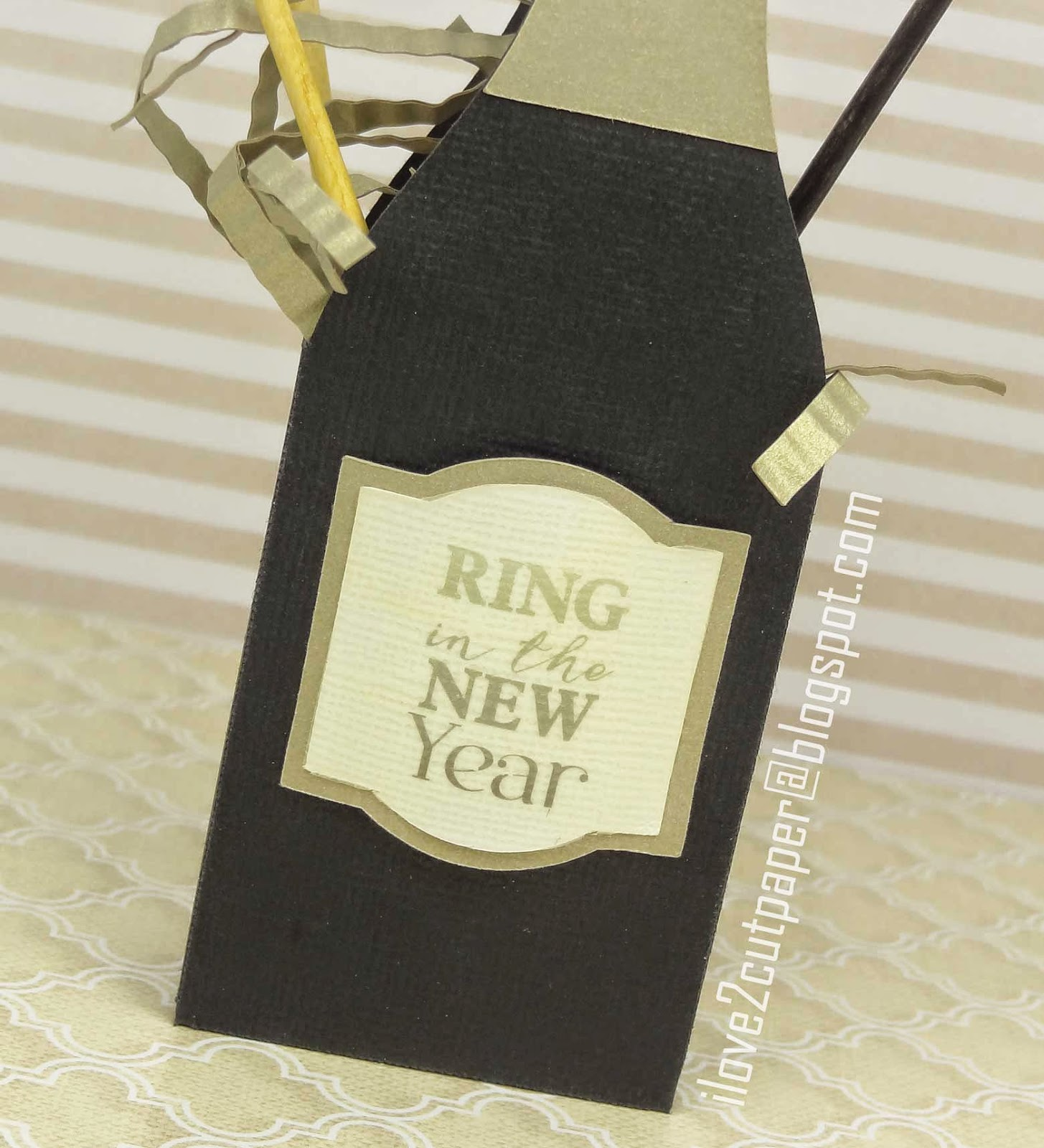 Print and Cut - Champagne Label