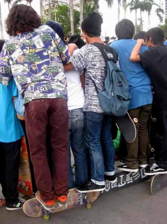 Photo essay on skateboarding