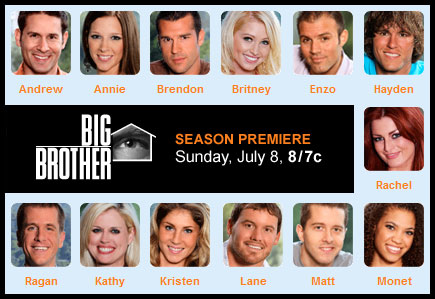 Big Brother 12 Cast Members