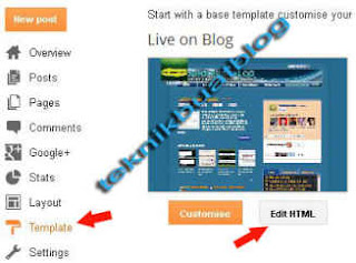 edit template blog