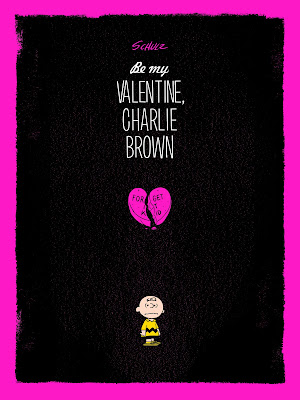 Be My Valentine, Charlie Brown Peanuts Variant Edition Screen Print by Jayson Weidel