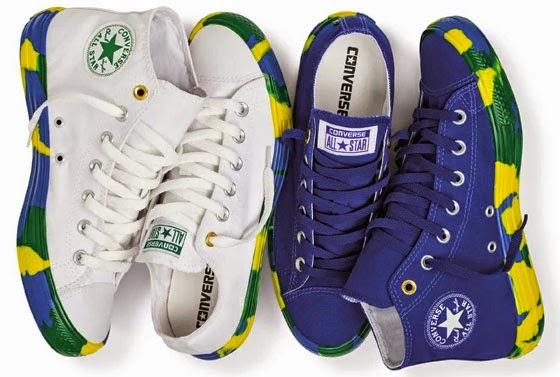 Converse coleção brasilidade para a Copa do Mundo 2014 Brasil Chuck Taylor All Star Bright solado cores contrastantes