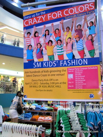 Crazy for Colors: SM Kids' Fashion Dance Party Caravan Schedule