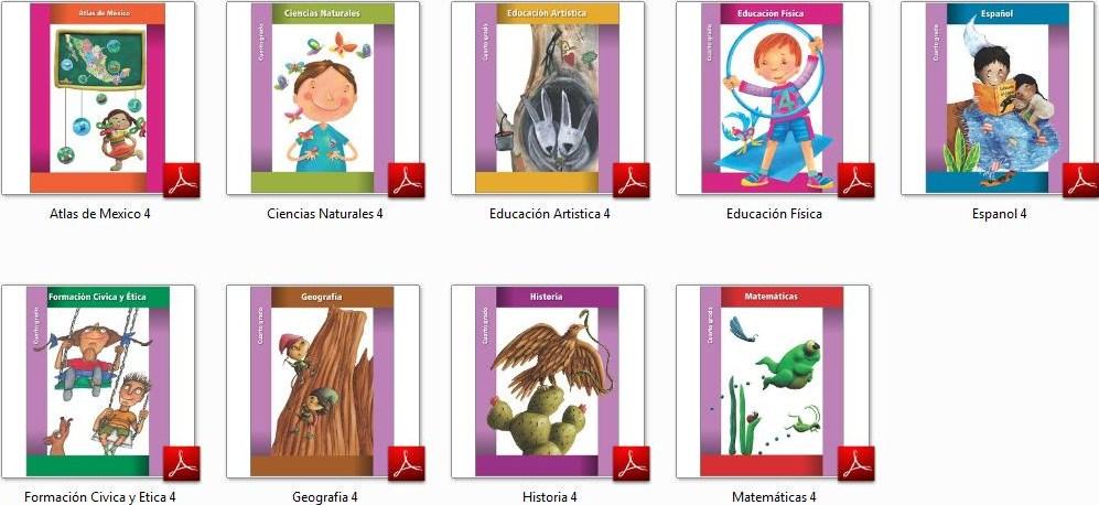 Aula Virtual: Libros de Cuarto Grado 2011-2012