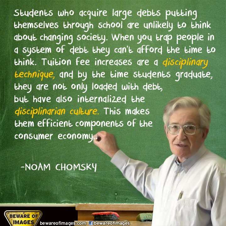 White Trash In The White House Talks Education: Noam Chomsky Quotes. QuotesGram