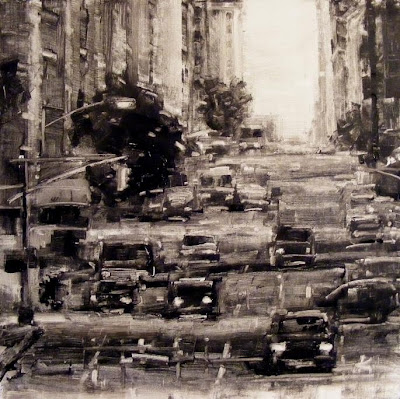 Original Manhattan NYC traffic painting