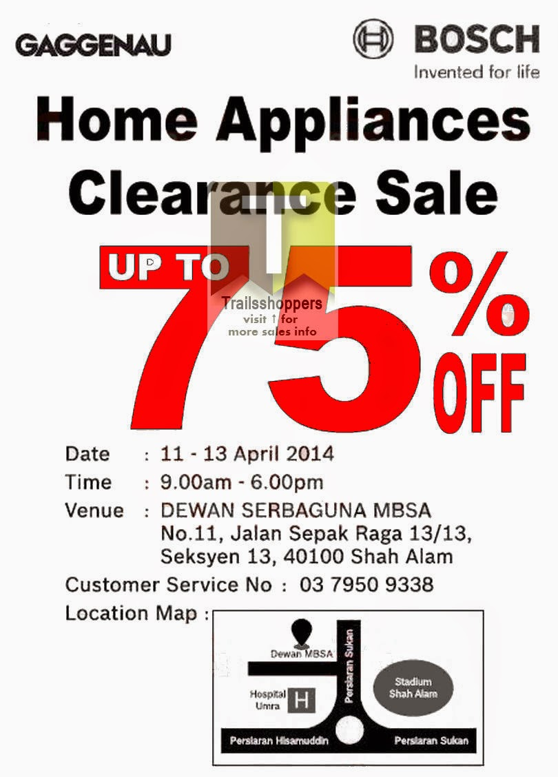 Home Appliances Clearance Sale Bosch Shah Alam