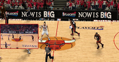 NBA 2K13 Playoffs Court Advertisements Patch