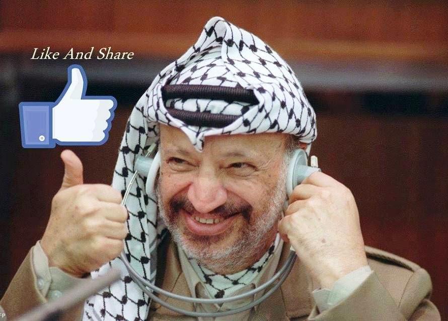 Yasser Arafat, líder da nação palestina