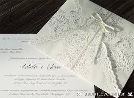 convites de casamentos com renda