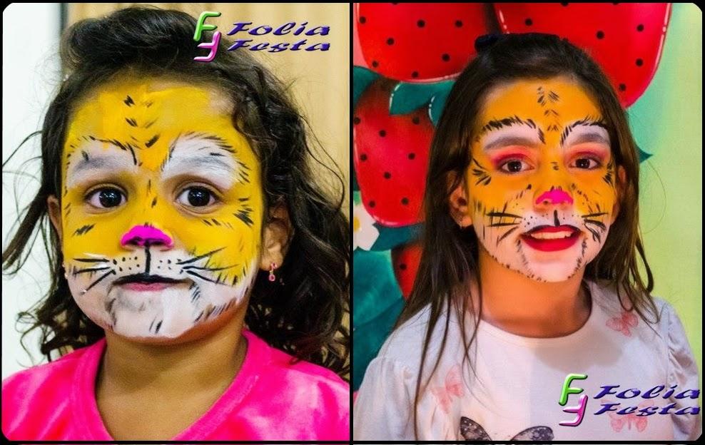Pintura Facial Artística de tigresa