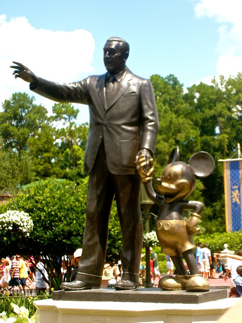Statue of Walt Disney & Mickey Mouse - Magic Kingdom, Disney World, Florida