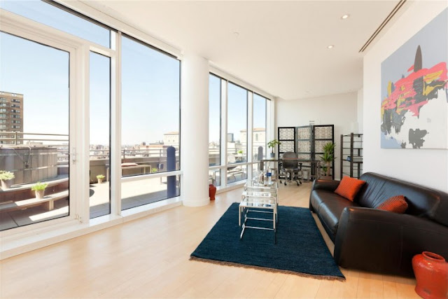 Photo of home office in one of the most beautiful penthouses