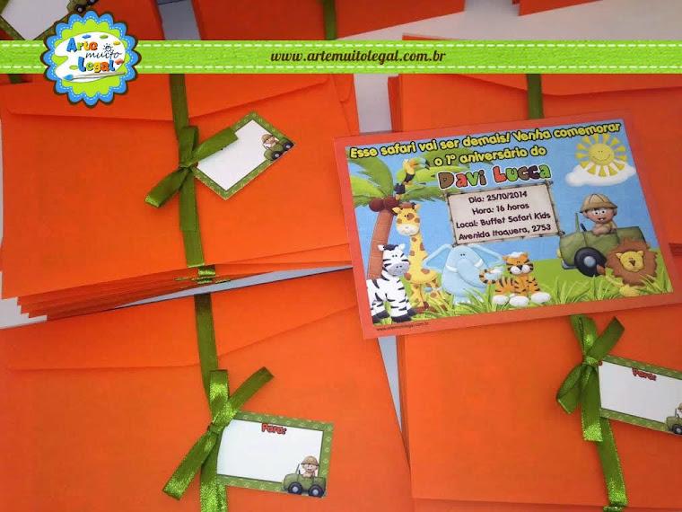 Arte Muito Legal - Convites infantis e Lembrancinhas Especiais - CLIQUE NA IMAGEM E FAÇA ORÇAMENTO