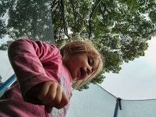 eldest on trampoline