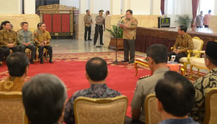 DIPA Tahun 2015 647,3 Triliun Diserahkan Presiden Kepada Gubernur Dan Pejabat Negara