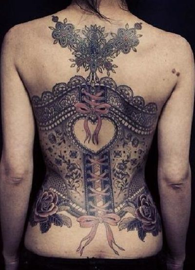 Girls With Back Tattoos