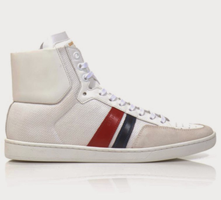 Saint Laurent white hightop sneakers