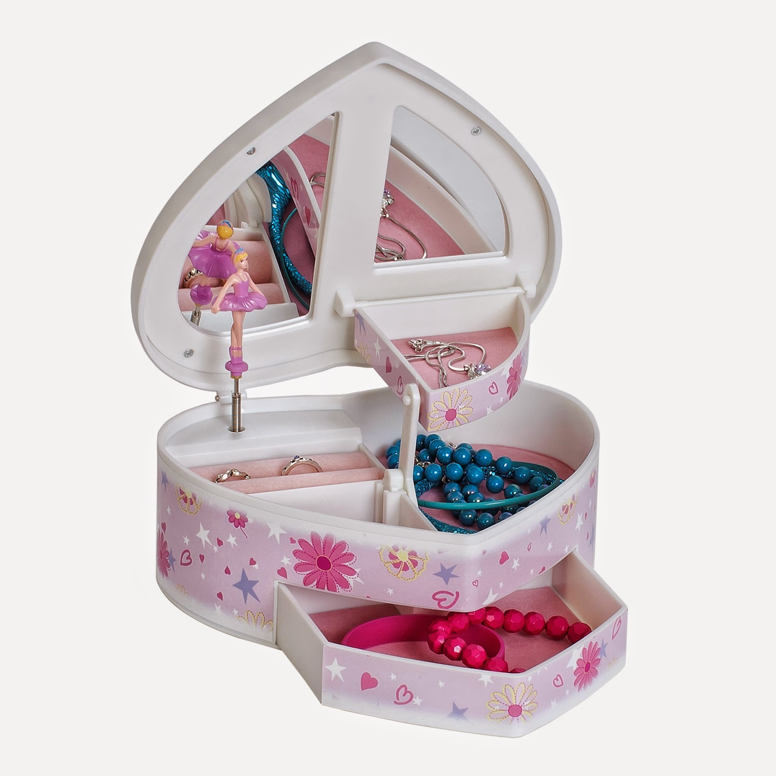 girls musical jewelry box plays swan lake
