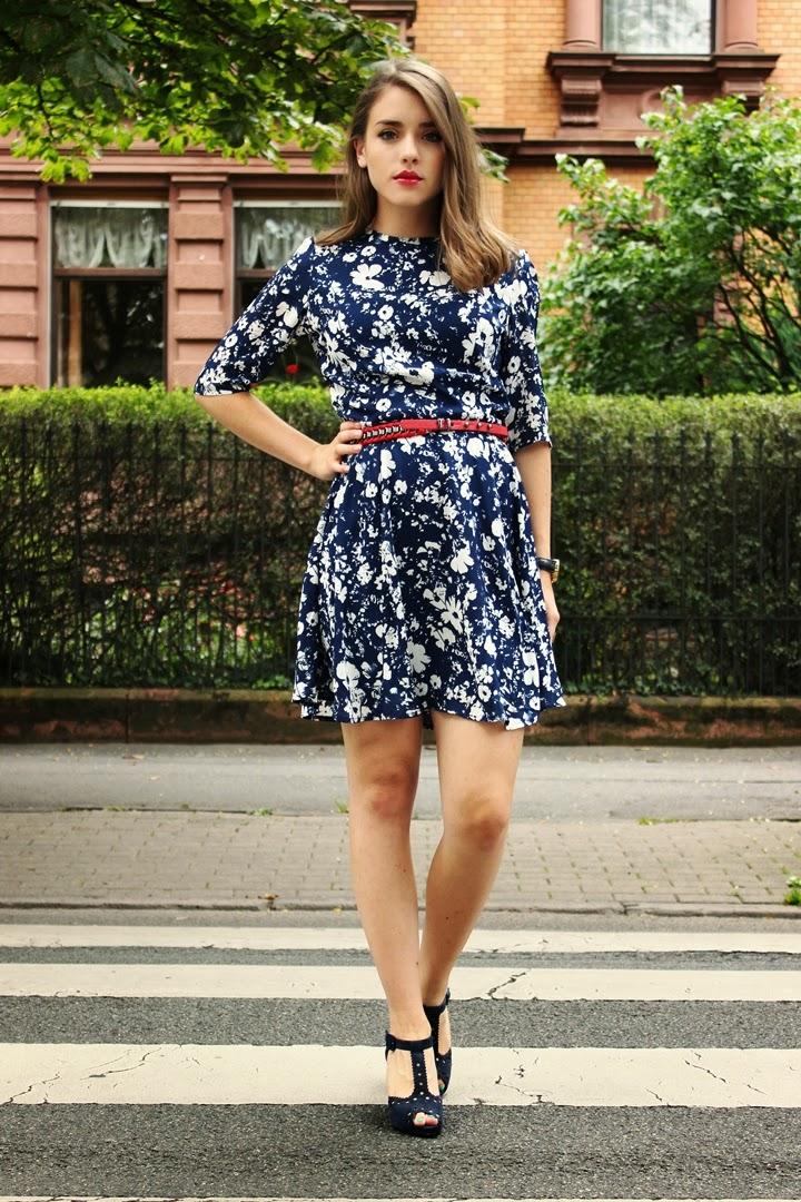dark blue dress, dunkelblaues kleid, herbsttrends