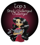 I made top 3 at Simply Challenged Challenges