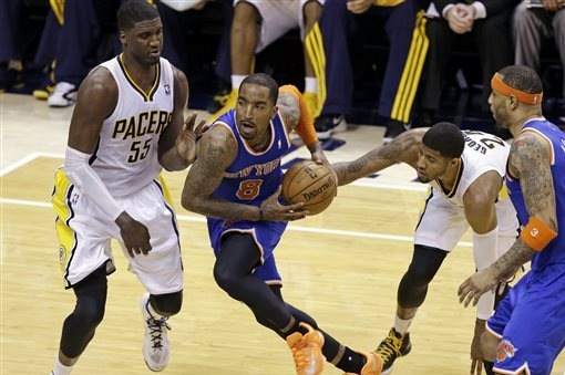 JR Smith got bottled up by the tight Indiana defense in Game 3.
