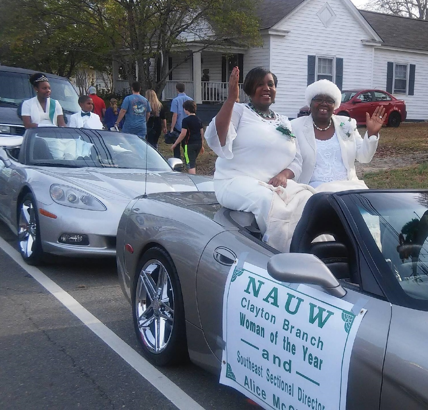 the nash rocky mount branch sisters made an appearance in the rocky mount christmas parade in rocky mount nc the branch passed out candy and shouted nauw - Clayton Christmas Parade
