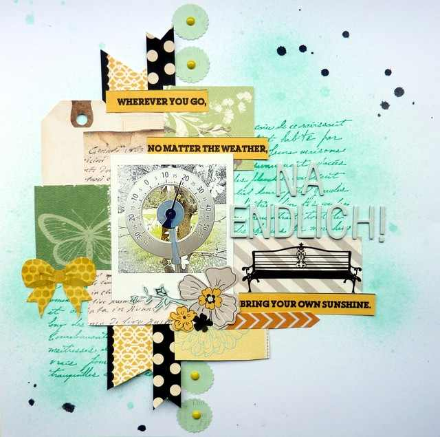 Scrapbooking Kit im Juni - Layoutinspiration