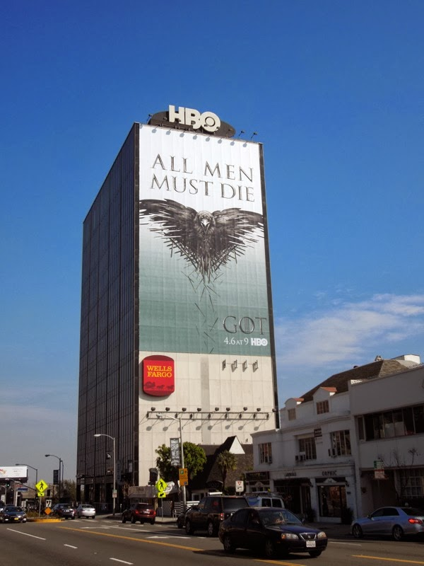 Giant Game of Thrones season 4 billboard Sunset Strip