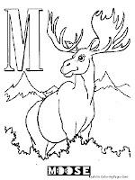 Animal Alphabet M Moose