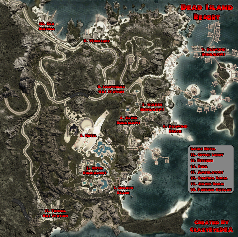 Dead Island Collectibles Map