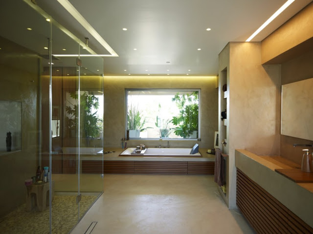 Modern bathroom with darker color