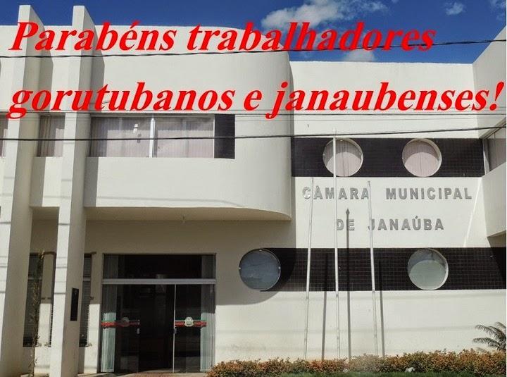 CÂMARA DE VEREADORES DE JANAÚBA -  1º DE MAIO, DIA DO TRABALHO