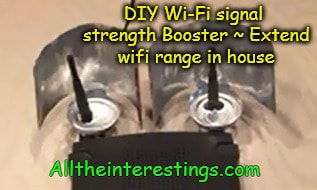 DIY Wi-Fi signal strength Booster ~ Extend wifi range in house, boost my wireless signal, DIY wifi booster, triple wifi signal strength lifehack,