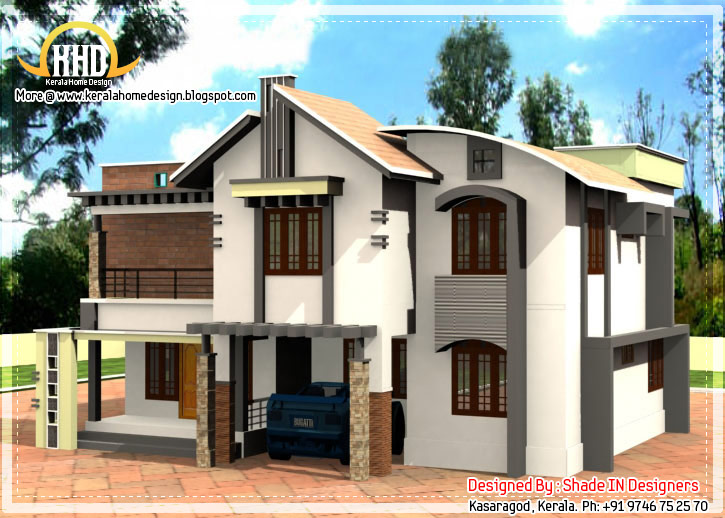 2 Story Contemporary Kerala Home 2509 Sq Ft Home