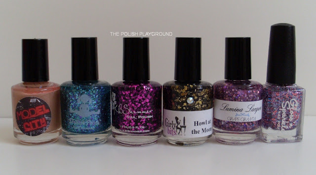 Model City, Dollish Polish, KB Shimmer, Girly Bits, Lumina Lacquer, Gloss'n Sparkle