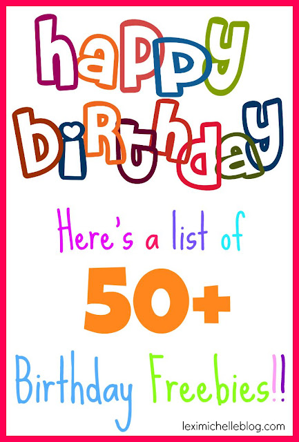 50+ birthday freebies
